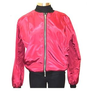 Jackets & Blazers - Red women's bomber jacket